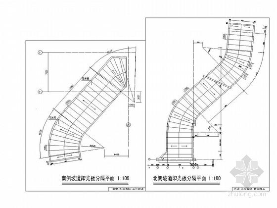 坡道阳光板雨棚结构图