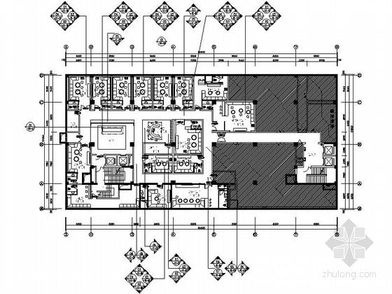 [保定]现代化集团型企业高档商务会所KTV室内装修施工图