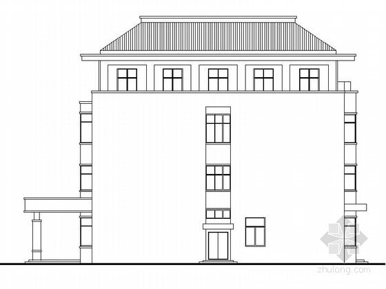 四层框架结构综合办公楼建筑施工图