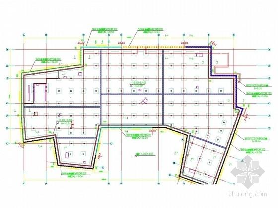 [江苏]10米深基坑SMW工法桩结合扩大头锚索围护施工图