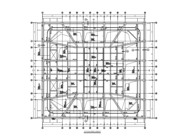 220m超高层框架核心筒建筑结构施工图