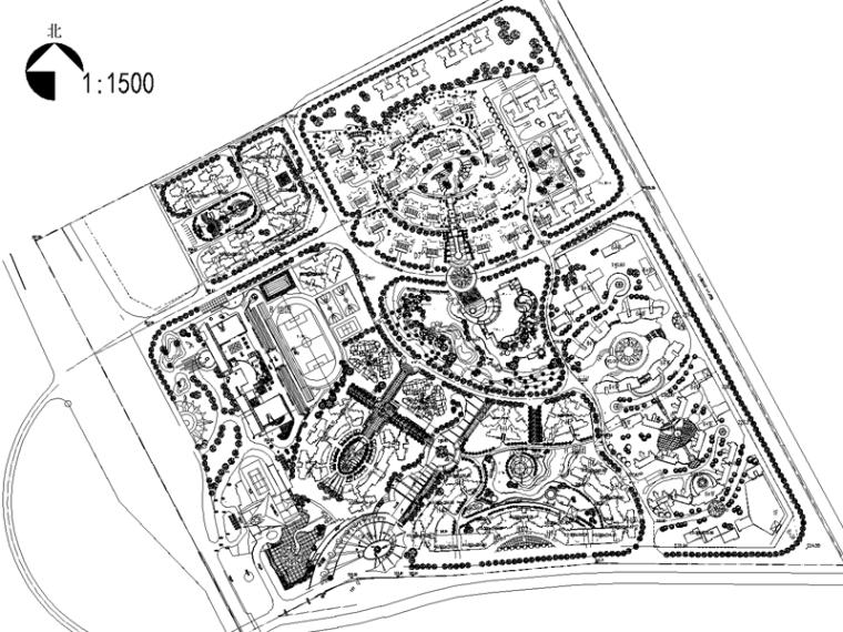 [重庆]南方上格林渝丰花园全套景观CAD施工图(含:照片,效果图)