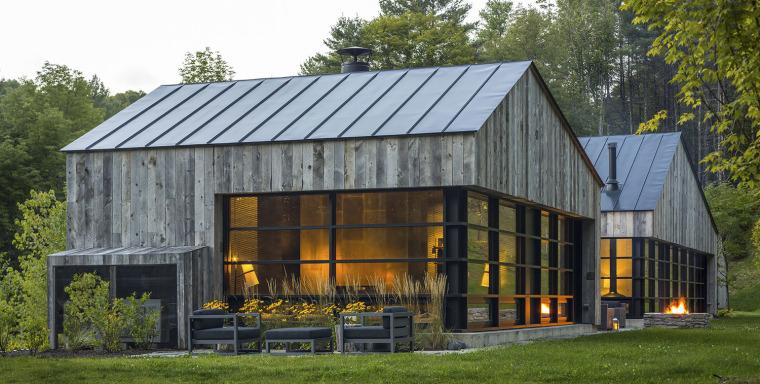 美国森林中的小木屋