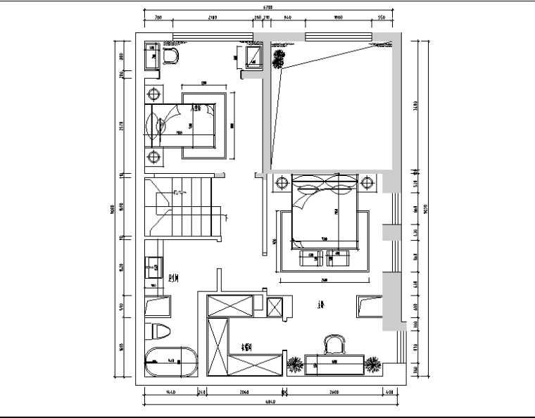 [内蒙古]加州风样板间设计施工图(附效果图)