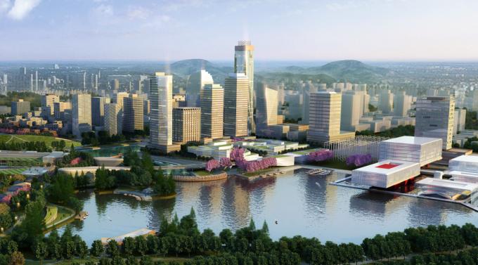 [江苏]滨江现代低碳示范区山水田园城市规划景观设计方案_2