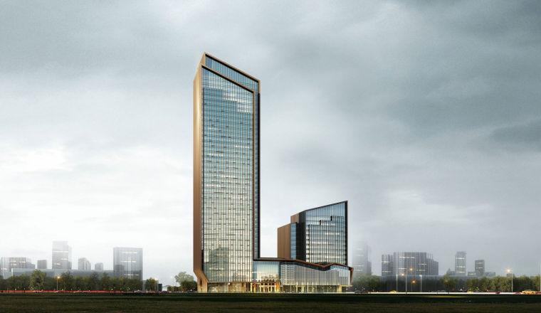 [成都]35年历史著名成都饭店建筑设计方案