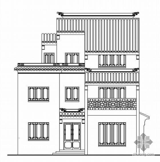 [苏州徽派]某二层別墅古建设计施工图