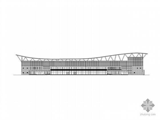 某四层汽车客运站建筑施工图、效果图