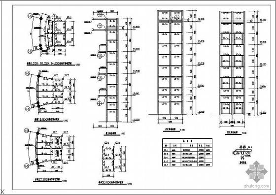 某精品家具市场观光电梯工程图纸