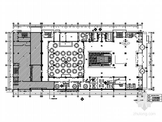 [天津]特色豪华五星级婚宴酒店CAD施工图(含效果方案)