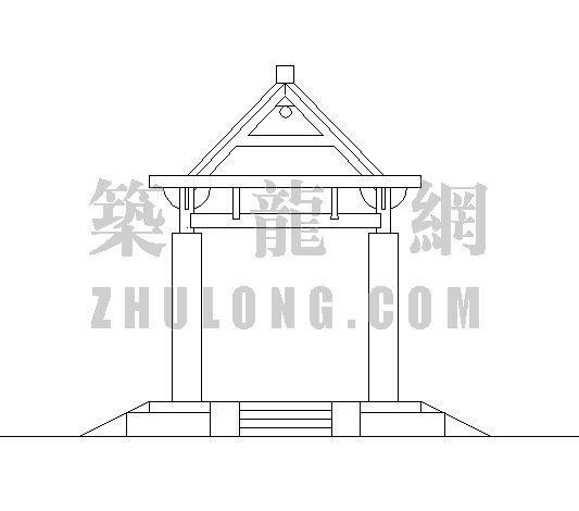木制四角亭施工图