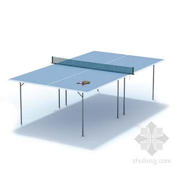 vray材质球素材资料下载-乒乓球桌001