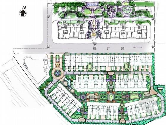 [福建]欧式Tudro风格住宅小区景观设计方案(知名设计所)
