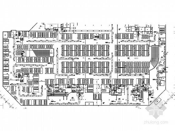 [浙江]大型住宅小区通风防排烟系统设计施工图(人防设计)