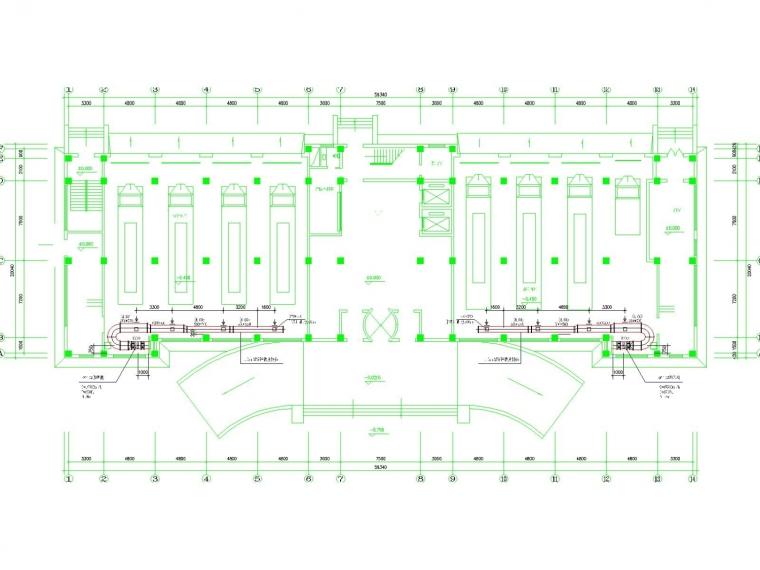 消防中心办公楼采暖通风及防排烟系统设计施工图(散热器采暖)