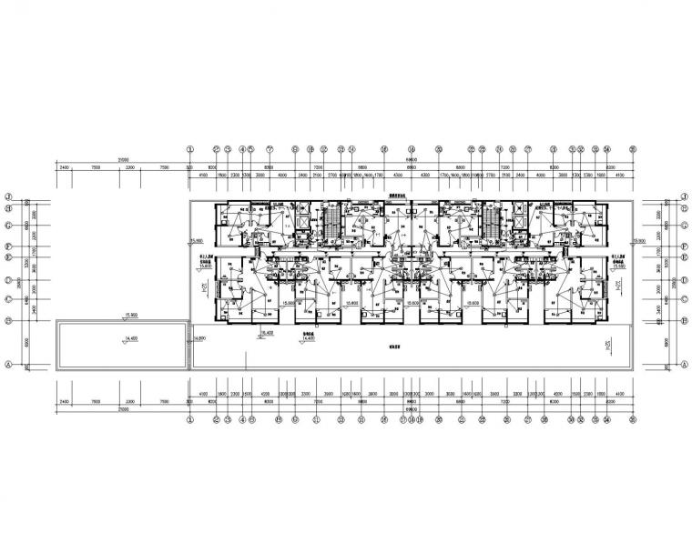 [湖南]20层商业住宅电气施工图