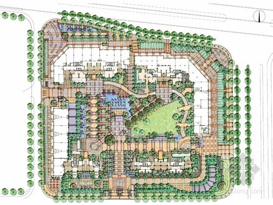 [杭州]后现代主义风格住宅区景观规划方案