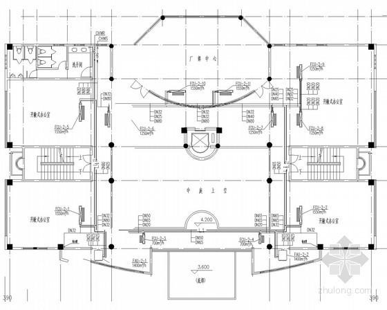 六层办公楼风冷往复式冷水空调系统设计施工图