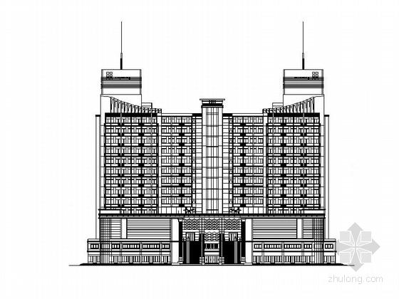 77米大型现代风格假日广场建筑设计施工图