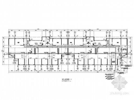 [湖北]超高层住宅楼给排水平面图