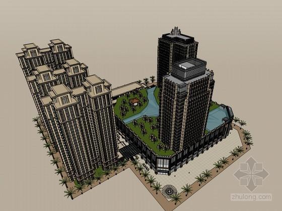 高大雄伟建筑SketchUp模型下载-高大雄伟建筑