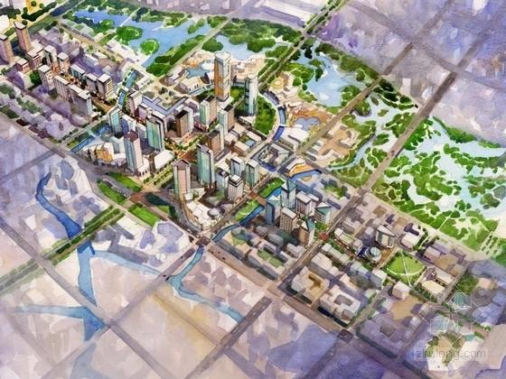 [江苏]滨湖生态友好新城CBD景观规划设计方案(191页高清图纸)