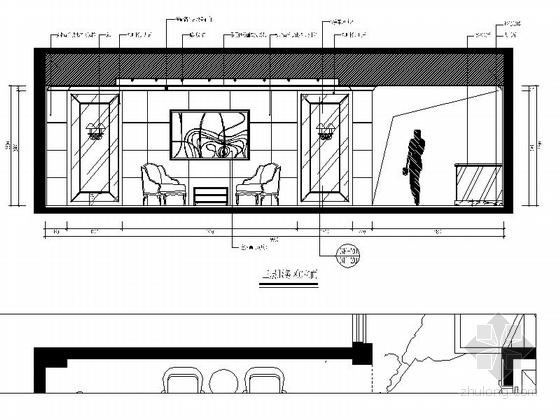 [福建]国际豪华欧式音乐会所设计施工图(含效果)服务区立面图