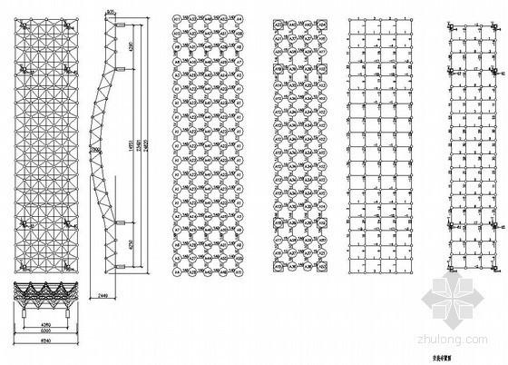 某厂房网架大门结构设计图