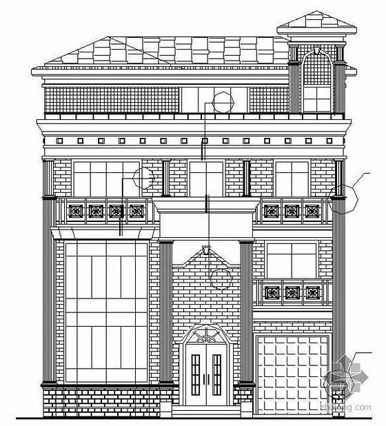 某四层欧式别墅建筑施工图(带效果图)