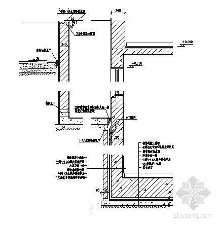 侧墙防水节点大样图(二)