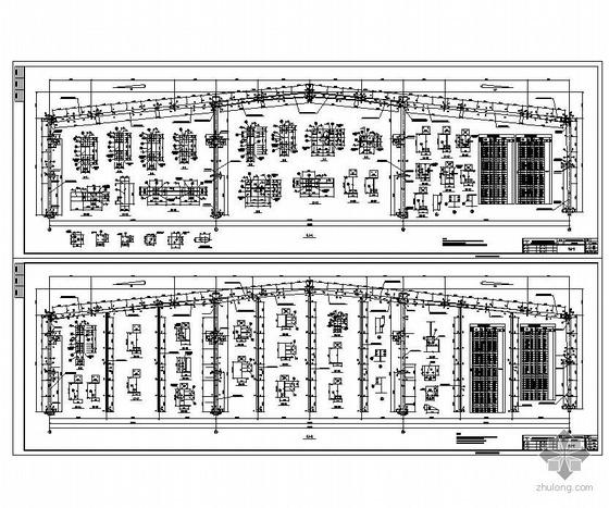 某3X18m三连跨全套钢结构车间结构图