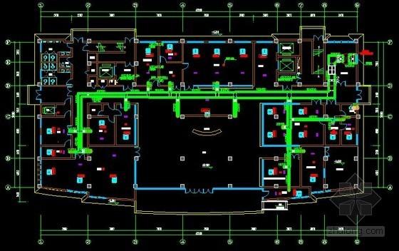[安徽]高层医疗保健综合建筑空调通风及防排烟系统设计施工图