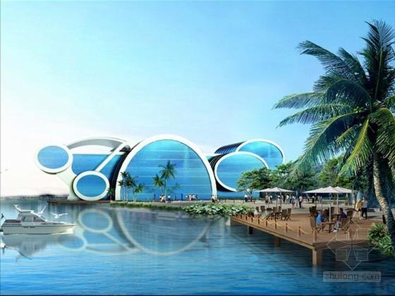 海洋馆建筑外观设计3D模型下载
