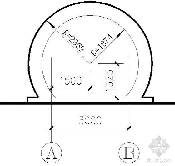 风雨长廊建筑结构详图-2