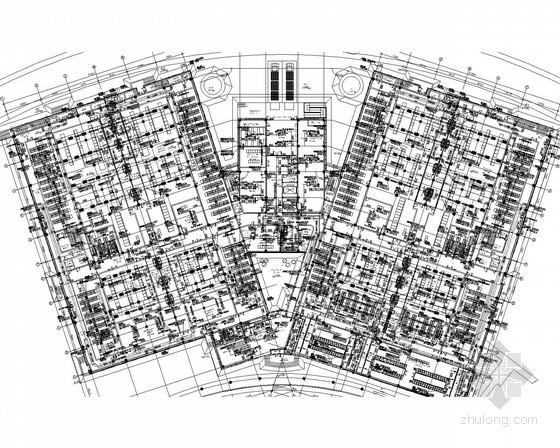 [山西]数据机房楼空调通风排烟初步设计图纸(含动力配电 水环热泵)