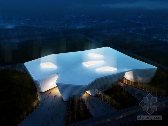 [内蒙古]现代风格多层文化中心建筑设计方案文本(含cad ppt 包含3种设计方案)
