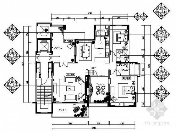 [广东]欧式典雅样板房施工图(含效果)
