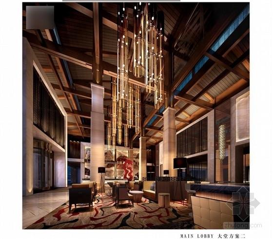 [重庆]某五星级奢华假日酒店室内设计方案图