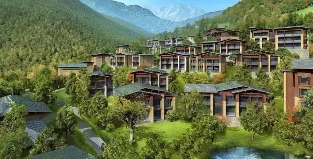 九寨沟|中国首家丽思卡尔顿全别墅酒店,全套设计方案!
