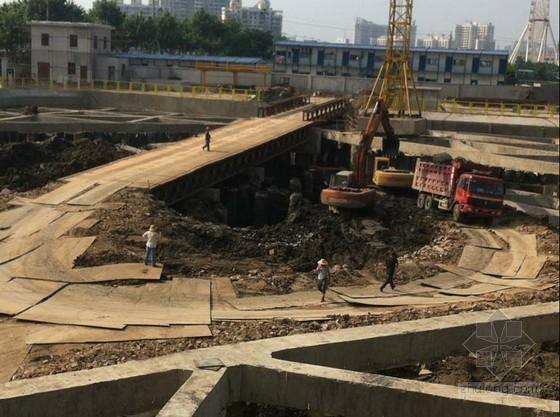 深基坑使用贝雷架桥梁开挖施工工法