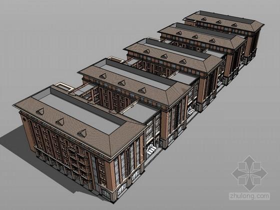 古典学院建筑设计sketchup模型
