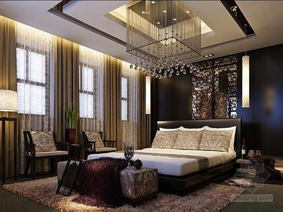 后现代卧室3D模型下载