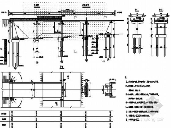 [黑龙江]4×16m预应力混凝土空心板桥施工图43张(独柱式桥墩)