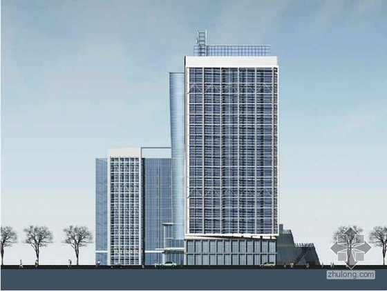 [青岛]某二十层高层研发办公大楼建筑设计方案文本(有效果图)
