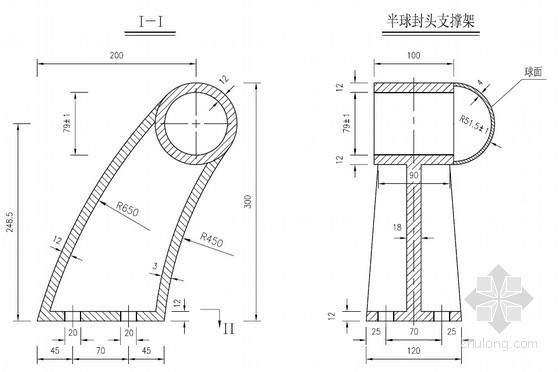 混凝土桥梁防撞栏杆一般构造图