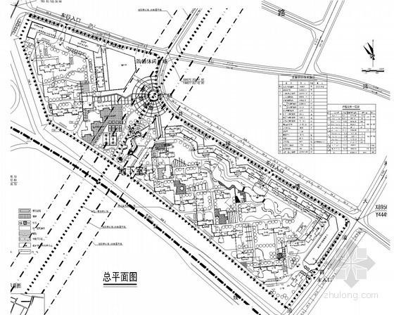 某保障性住房小区规划方案图