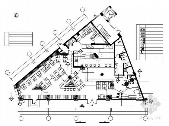 [厦门]某高档餐厅装修设计CAD施工图