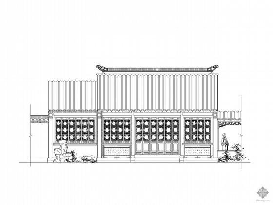 [木结构仿古建筑]书斋建筑施工图