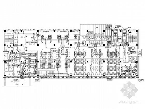 VRV风管机空调图资料下载-[江苏]办公楼空调通风排烟系统设计施工图(VRV系统)