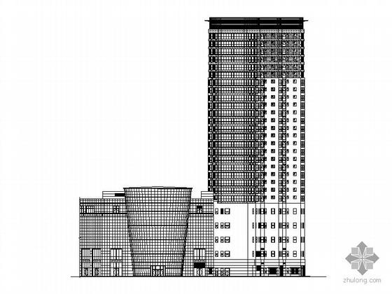 [威海]某二十七层商业综合建筑施工图(休闲购物、住宅)